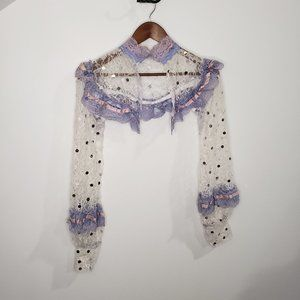 Handmade Lace Cover Fairycore White and Lilac